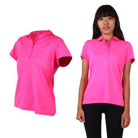 (女) NIKE GOLF 短袖POLO衫- 吸濕排汗 高爾夫球 短T 螢光粉