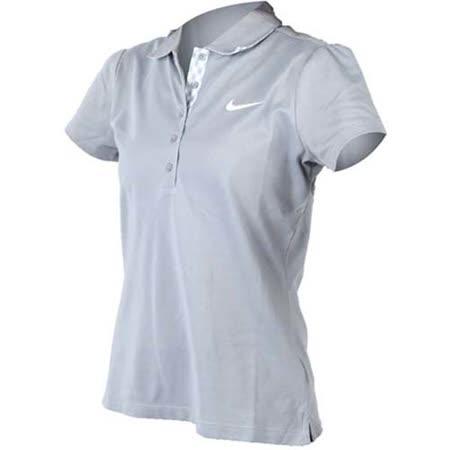 (女) NIKE GOLF 短袖POLO衫- 高爾夫球 休閒 吸濕排汗 灰白