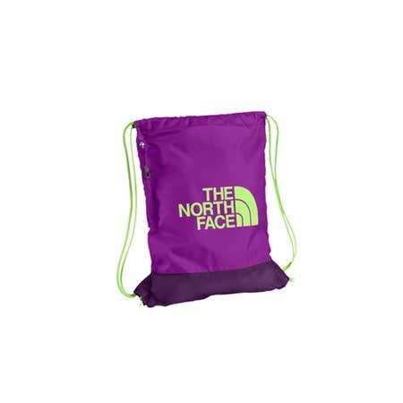 THE NORTH FACE 多功能背袋-鞋袋 束口袋 後背包 雙肩包 紫淺綠 F