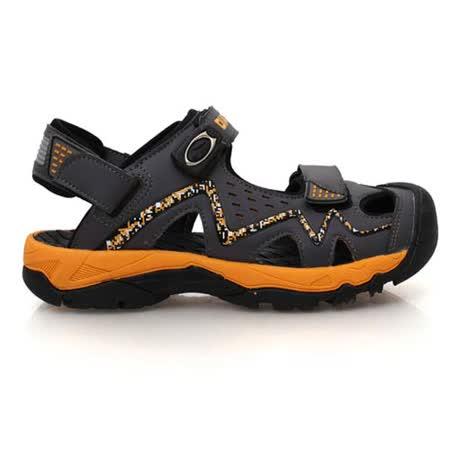 (男) DIADORA 運動涼鞋-排水 拖鞋 休閒涼鞋 灰橘