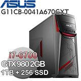 ASUS華碩 G11CB【王者風範】Intel  i7-6700 四核心 16G記憶體 4G獨顯 Win10電競電腦 (G11CB-0041A670GXT)