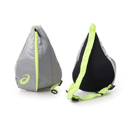 ASICS LITE-SHOW 大肩背包-自行車 側背包 亞瑟士 銀螢光綠 F