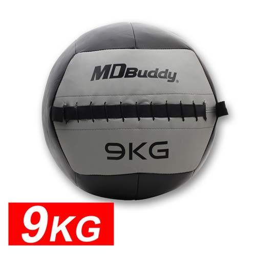 MDBuddy 皮革重力球 9KG-藥球 健身球 韻www gohappy com tw律 訓練 隨機 F
