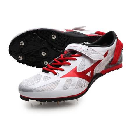 (男女) MIZUNO GEO SPRINT 2 田徑釘鞋- 短跑 跨欄 美津濃 白紅黑