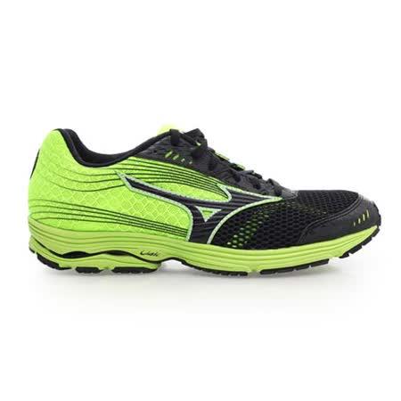 (男) MIZUNO WAVE SAYONARA 3 慢跑鞋- 路跑 美津濃 黑螢光綠