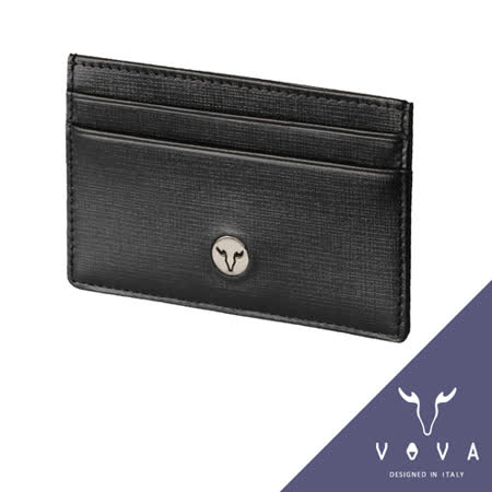 VOVA 凱旋系列5卡IV紋單層卡夾(黑色)VA104W011BK