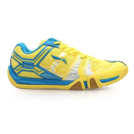 (女) LI-NING 款羽球鞋- 羽毛球 李寧 黃藍