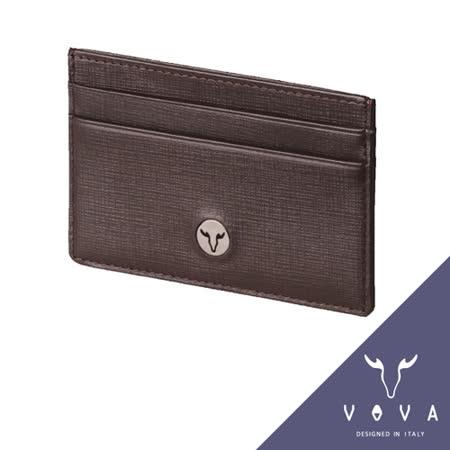 VOVA 凱旋系列5卡IV紋單層卡夾(咖啡色)VA104W011BR