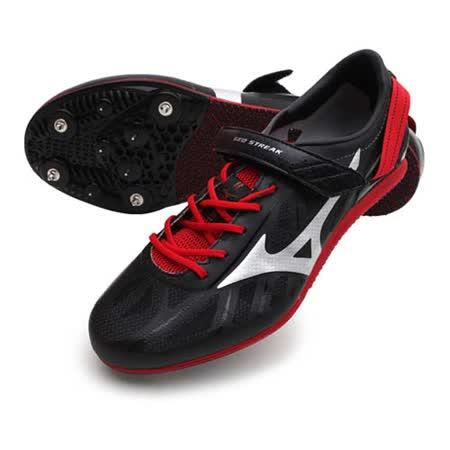 (男女) MIZUNO GEO STREAK 田徑釘鞋- 跨欄 美津濃 黑紅