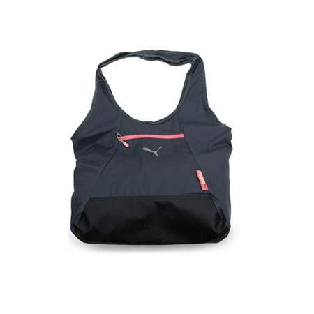 PUMA FIT AT 購物袋-單肩包 手提包 深灰梅紅 F
