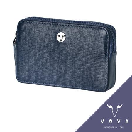 VOVA 凱旋系列IV紋拉鍊零錢包(墨藍色)VA104W013NY