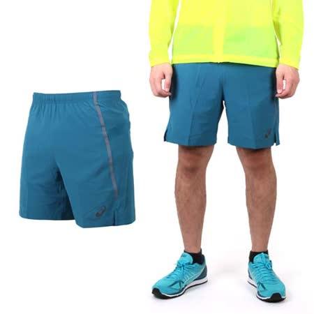 (男) ASICS LITE-SHOW 慢跑短褲 - 路跑 休閒短褲 亞瑟士 藍綠