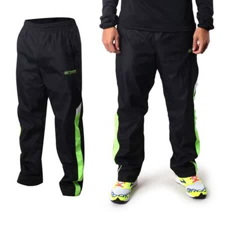 (男) FIRESTAR 運動長褲-刷毛 保暖 慢跑 路跑 黑綠