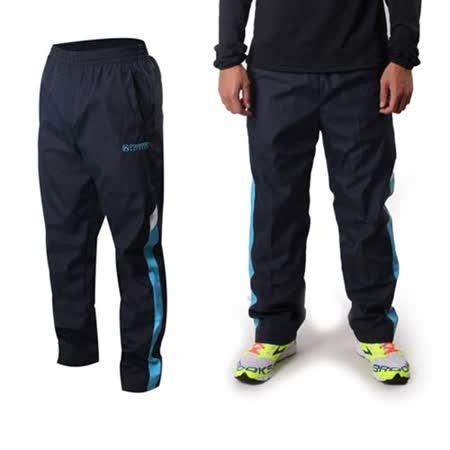 (男) FIRESTAR 運動長褲-刷毛 保暖 慢跑 路跑 丈青藍