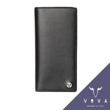 VOVA 凱旋系列14卡IV紋薄型長夾(黑色)VA104W016BK