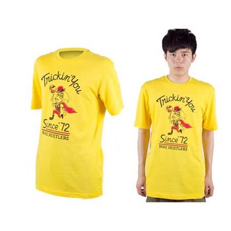 (男) NIKE 休閒短袖T恤-圓領  黃