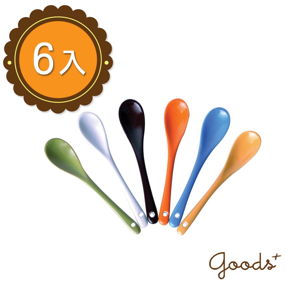 ~goods ~簡約和風 繽紛色彩陶瓷攪拌匙調味棒^(6入^)_PO02^(短款^)