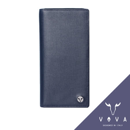 VOVA 凱旋系列14卡IV紋薄型長夾(墨藍色)VA104W016NY