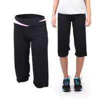(女) SOFO 七分長褲 -路跑 慢跑 運動 休閒 健身 黑粉