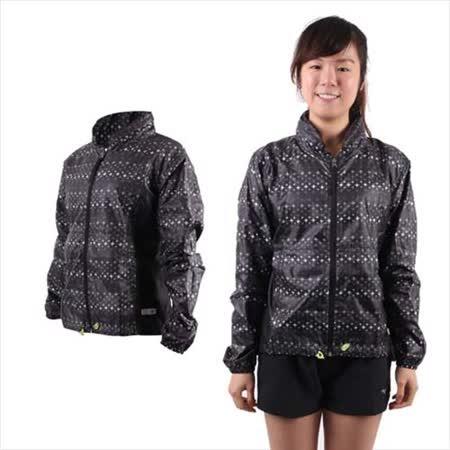 (女) MIZUNO 運動外套-慢跑 路跑 風衣 立領 美津濃  黑