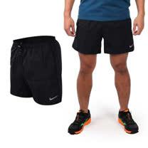 (男) NIKE 運動短褲-梭織 慢跑 路跑 黑銀