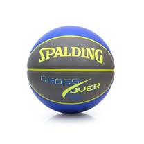 SPALDING CROSS OVER PU 7號籃球-室內外 芥末黃藍 F