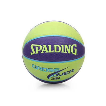SPALDING CROSS OVER 7號籃球-NBA 室內外球 附球針 紫綠 F