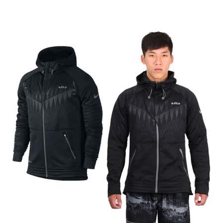 (男) NIKE 針織夾克- 保暖 連帽外套 慢跑 路跑 LEBRON JAMES 黑