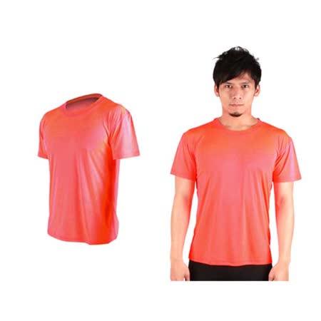 (男女) HODARLA FLARE 300 超柔肌膚排汗衫-短袖T恤 涼感 柔膚 台灣製  粉橘