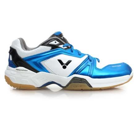 (男) VICTOR 羽球鞋- 排球 勝利 藍白