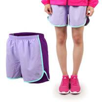 (童) THE NORTH FACE 女快排短褲-慢跑 路跑 粉紫淺綠紫