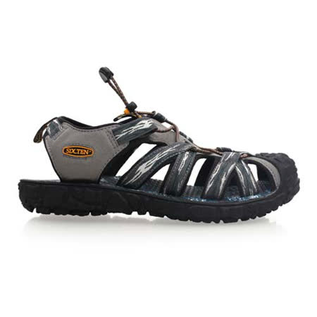 (男) SOFO 護趾涼鞋-拖鞋 休閒涼鞋 灰藍綠