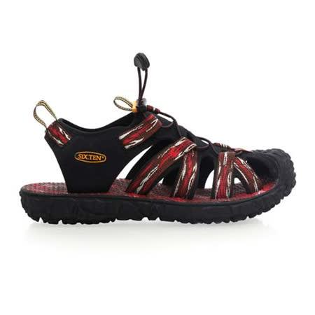 (男) SOFO 護趾涼鞋-拖鞋 休閒涼鞋 紅咖啡