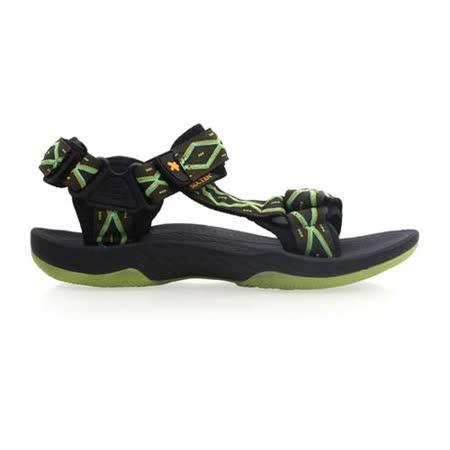 (男) SOFO 圖騰涼鞋-休閒涼鞋 拖鞋 黑綠