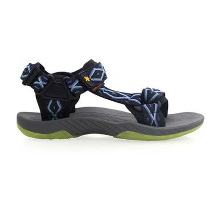 (男) SOFO 圖騰涼鞋-休閒涼鞋 拖鞋 灰紫藍