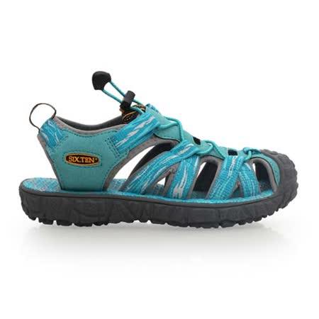 (女) SOFO 護趾涼鞋-休閒涼鞋 拖鞋 湖水藍