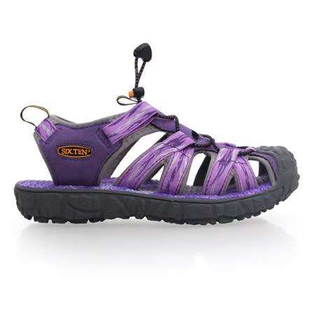 (女) SOFO 護趾涼鞋-休閒涼鞋 拖鞋 紫