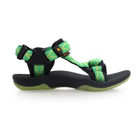 (女) SOFO 圖騰涼鞋-休閒涼鞋 拖鞋 黑綠