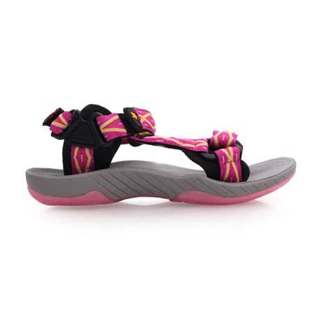 (女) SOFO 圖騰涼鞋-休閒涼鞋 拖鞋 灰桃紅