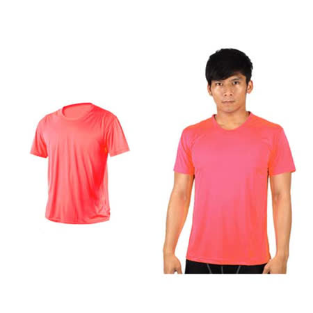 (男女) HODARLA 激膚無感衣 涼感短T恤-0秒吸排抗UV輕量吸濕排汗 螢光粉