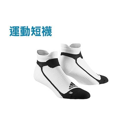 (男女) ADIDAS 運動短襪-慢跑 路跑 愛 買 台北襪子 白黑 M