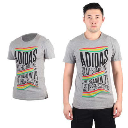 (男) ADIDAS ORIGINALS 復古三葉草短袖T恤-運動 愛迪達 灰黃紅綠
