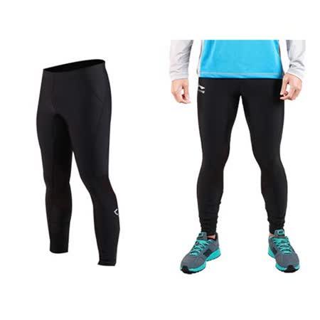 (男女) LI-NING 田徑緊身長褲-路跑 慢跑 馬拉松  黑銀 2XL