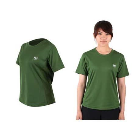 (女) NatureHike 短袖運動T恤-慢跑 路跑  綠 L