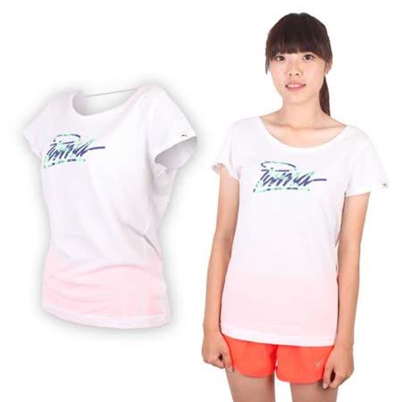 (女) PUMA 海灘系列短袖T恤-棉T 運動 白藍綠