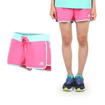 (女) NEWBALANCE 運動短褲-慢跑 路跑 桃紅淺藍
