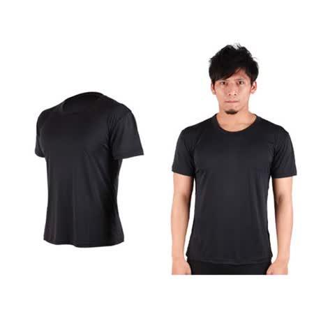 (男女) HODARLA FLARE 300 超柔肌膚排汗衫-短袖T恤 涼感 柔膚 台灣製  黑