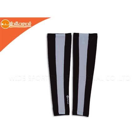 (男女) WILDLAND 中性防曬袖套-台灣製 抗UV  黑