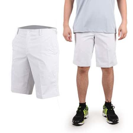 (男) NIKE GOLF 快速排汗條紋短褲- 休閒 戶外 高爾夫球 淺灰白
