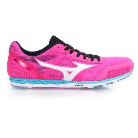 (女) MIZUNO WAVE EKIDEN 10 馬拉松鞋-慢跑鞋 路跑 美津濃  粉紅白